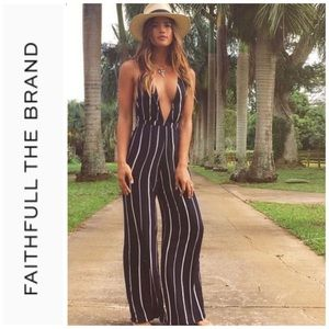 Faithfull The Brand Riley Jumpsuit/Riptide…